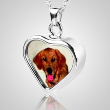 Heart Pet Picture Cremation Pendant