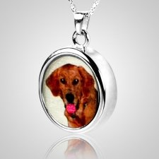Round Pet Picture Cremation Pendant