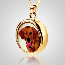 Round Pet Picture Cremation Pendant IV