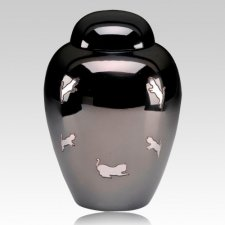 Bouncing Cat Cremation Urn