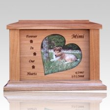 Hearts Forever Picture Cremation Urn - Large