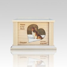 Pet Heart Picture Cremation Urn - Small