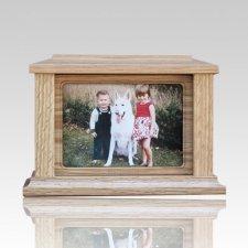 Pet Rectangle Picture Cremation Urn - Medium