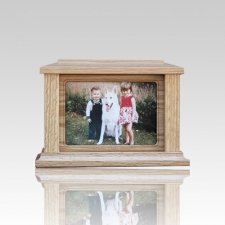 Pet Rectangle Picture Cremation Urn - Small