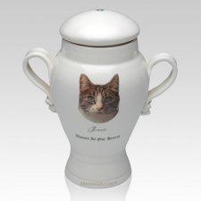 Our Cat Picture Ceramic Cremation Urn