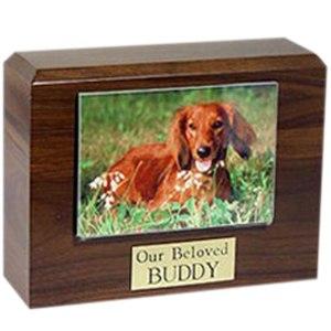 Walnut Photo Pet Cremation Urns
