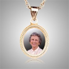 Oval Rope Edge Photo Keepsake Jewelry II