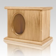 Picture Companion Oak Cremation Urn