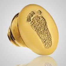 Lapel Pin Print 14k Yellow Gold Keepsake