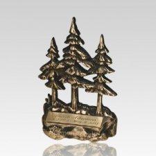 Pine Tree Bronze Pet Keepsake Urns
