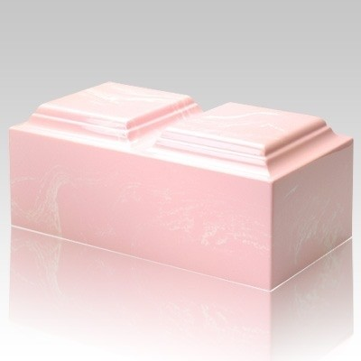 Pink Marble Companion Cremation Urn