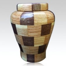 Peacly Large Wood Urn