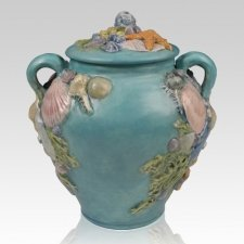 Seashell Ceramic Cremation Urns