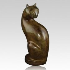 Calico Cat Cremation Urn