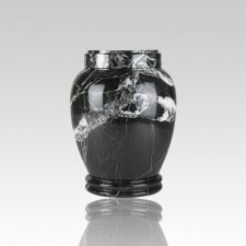 Black Zebra Keepsake Cremation Urn