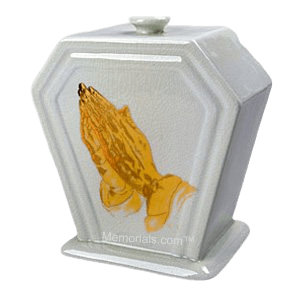 Praying Porcelain Cremation Urn