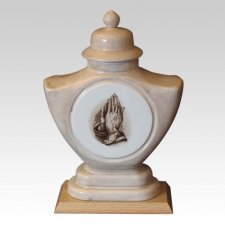 Praying Hands Ceramic Cremation Urn
