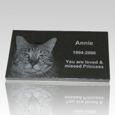 Black Granite Pet Grave Marker - Extra Large
