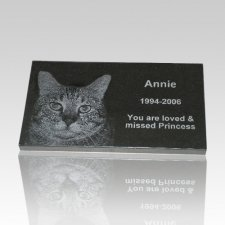 Black Granite Pet Grave Marker - Large