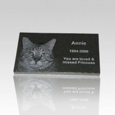 Black Granite Pet Grave Marker - Medium