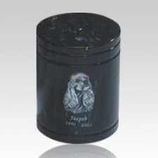 Black Medium Pet Marble Urn