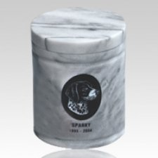 White Large Pet Marble Urn
