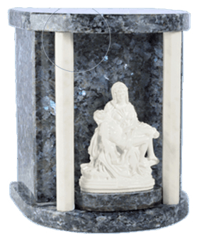 Lady Pieta Blue Pearl Cremation Urn