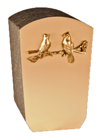 Loving Birds Bronze Cremation Urn
