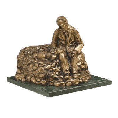 Man Resting Cremation Urn