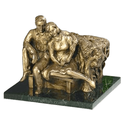 Seated Couple Companion Urn
