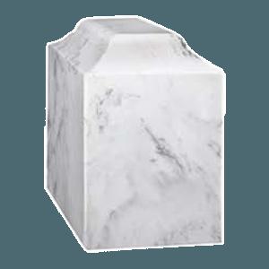 Atrina White Marble Cremation Urn
