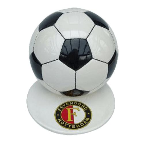 Black Logo Small Soccerball Urn