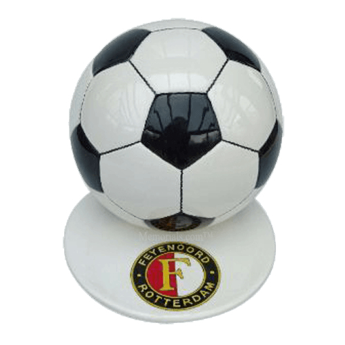 Black Logo Medium Soccerball Urn
