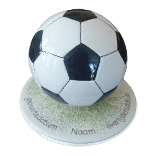 Black Small Soccerball Urn