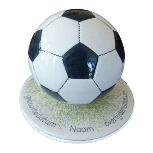 Black Soccerball Urns