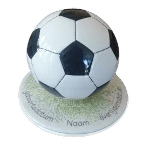 Black Medium Soccerball Urn