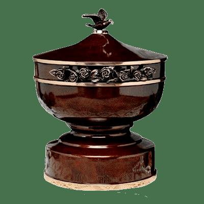 Belles Fleurs Bronze Cremation Urn