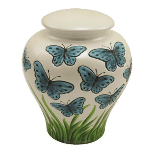 Butterfly Flutter Ceramic Urns