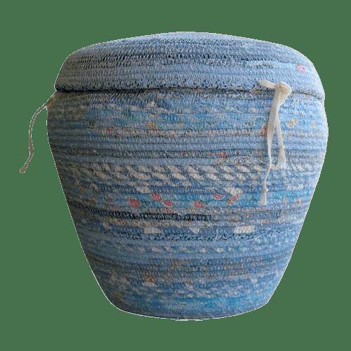 Sky Blue Cotton Cremation Urn
