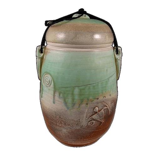 Earth Spirit Soda Fired Urn