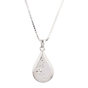 Etched Teardrop Cremation Pendant