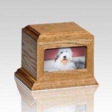 Fireside Pet Oak Picture Urn - Medium