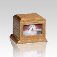 Fireside Pet Oak Picture Urn - Small