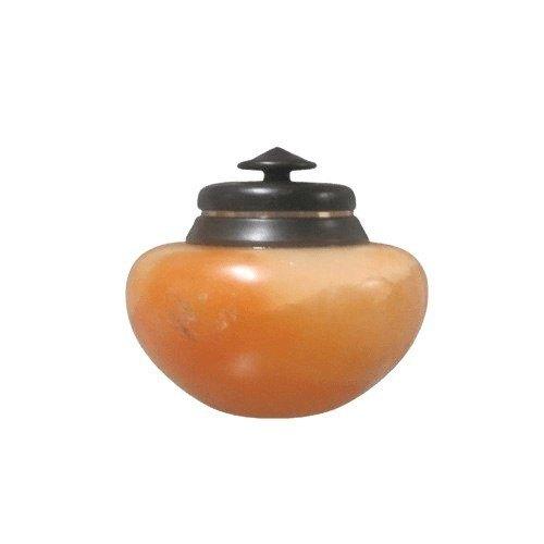 Orange Alabaster Keepsake Cremation Urn