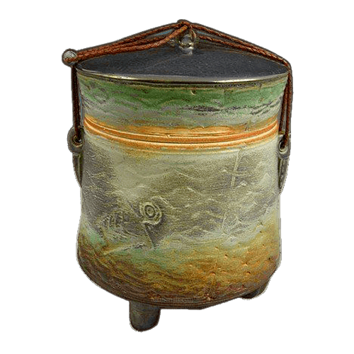 Morning Dusk Soda Fired Urn