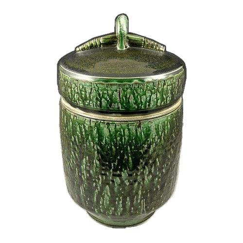 Mossy Forest Soda Fired Urn