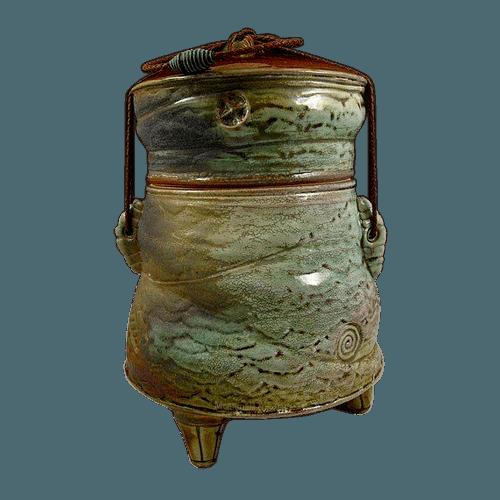 Phoenix Jade Soda Fired Urn