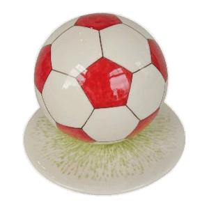 Red Medium Soccerball Urn