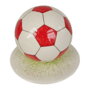 Red Logo Large  Soccerball Urn