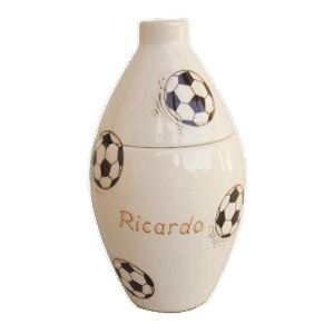 Soccer Dribbles Small Cremation Urn